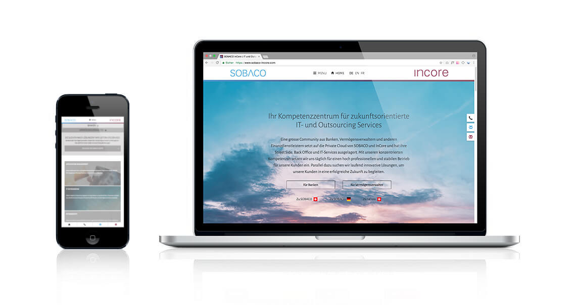 SOBACO InCore – Lieblingsprojekt – Webdesign & Individual-Entwicklung